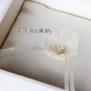 Coffret d'alliances pour mariage, dentelle de Calais et satin, coloris ivoire