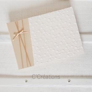 Livre d'or mariage { Esprit Bohème } broderie anglaise coloris ivoire pour mariage, baptême ou anniversaire