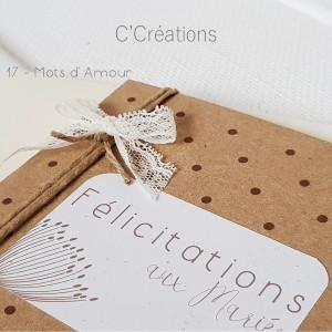 Carte Félicitations Mariage personnalisable